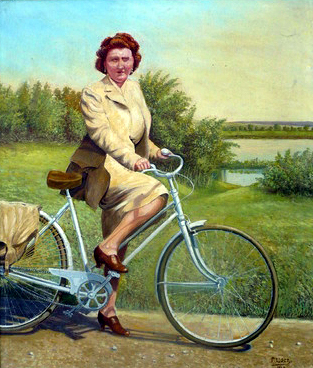 1946frenchladyonbike