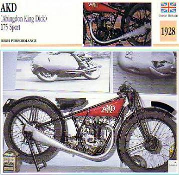 1928 AKD Motorcycle