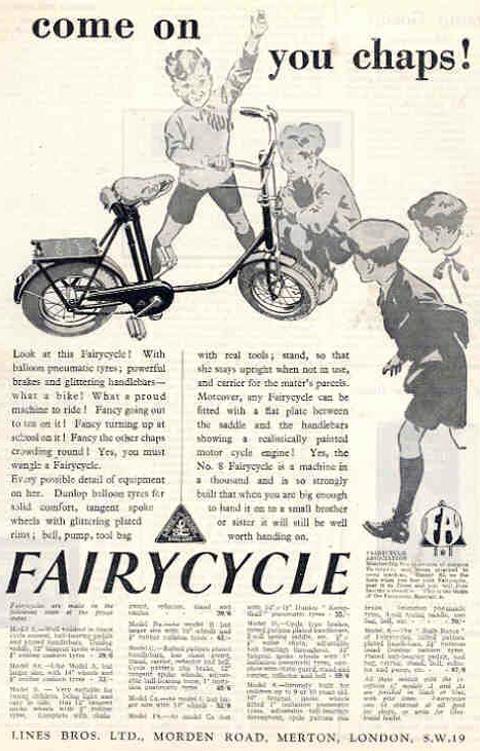 1920s Colson Child S Fairy Bicycle Www Oldbike Eu