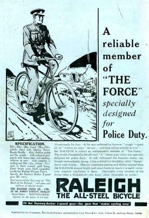 Raleigh bicycles 1951 cycling metal Wall Sign Retro Vintage Advertisement